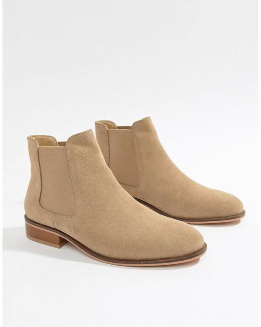 Park Lane - Natural Suede Chelsea Boots - Lyst