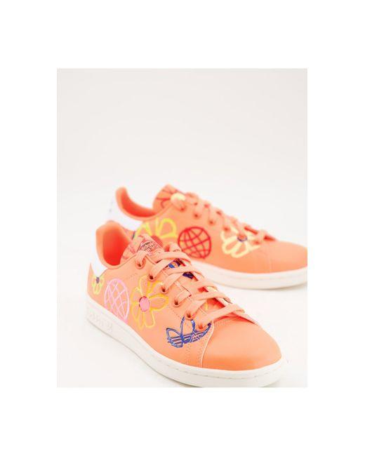 Adidas Originals Orange Sustainable Stan Smiths