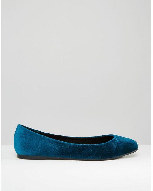 Asos Lassie Ballet Flats Teal In Blue Lyst