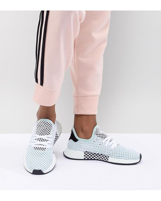 newest 6509c 905dd Adidas Originals - Black Deerupt Runner Sneakers In Green - Lyst ...