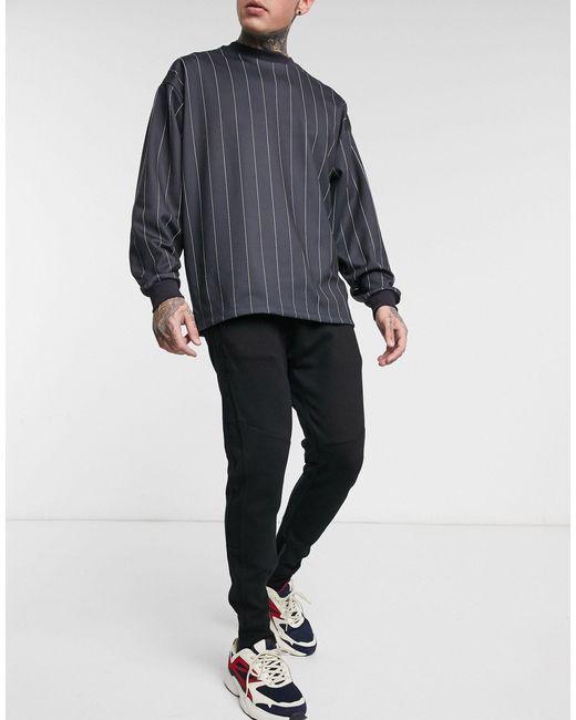 Черные Узкие Джоггеры -черный Pull&Bear для него, цвет: Black