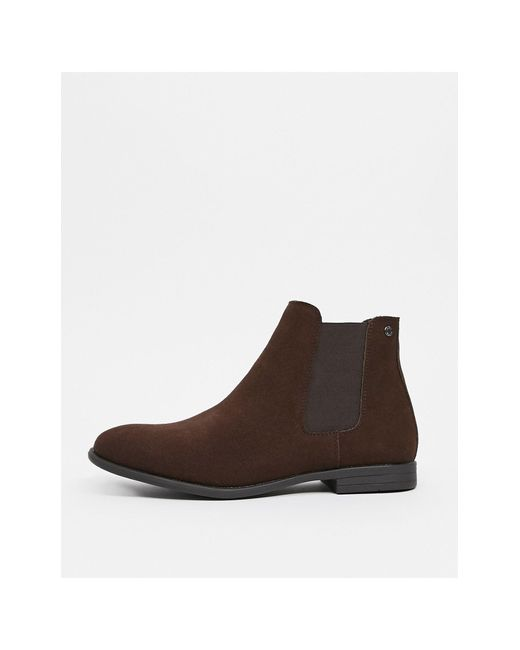 Коричневые Ботинки Челси Из Искусственной Замши -коричневый Jack & Jones для него, цвет: Brown