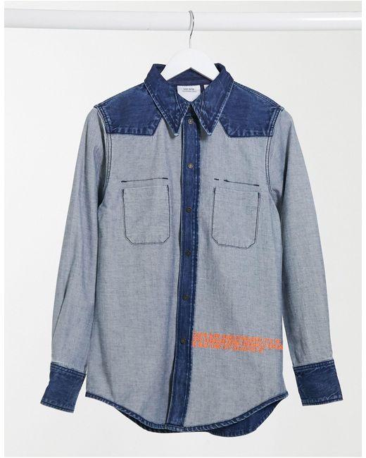 EST 1978 - Giacca di jeans blu effetto al rovescio di Calvin Klein in Blue