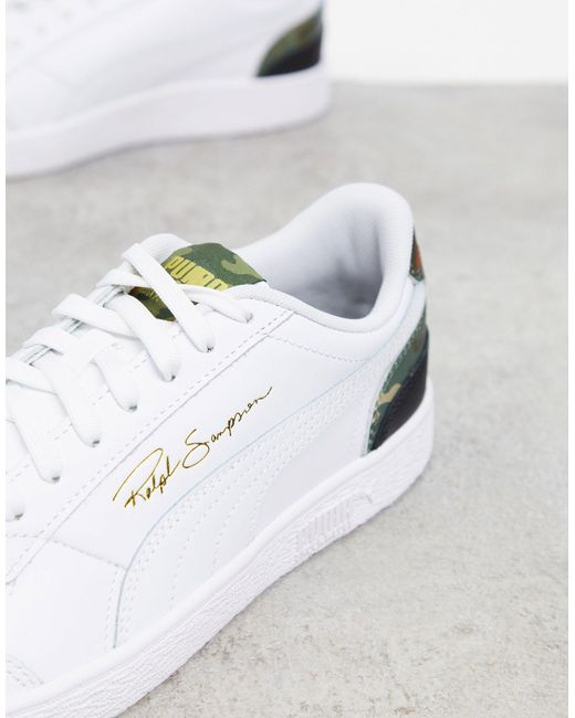 PUMA – Ralph Sampson – Sneaker mit Applikation in White für Herren