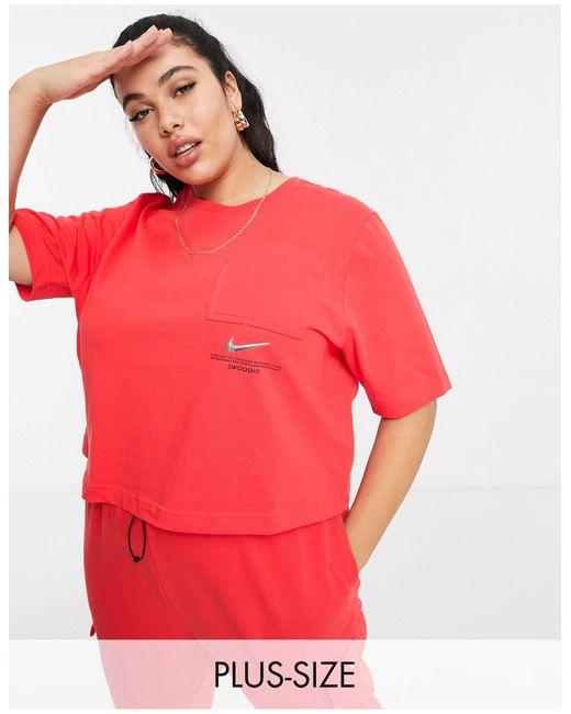 Nike Red Swoosh Plus Oversized T-shirt