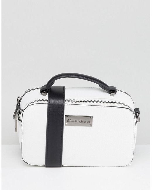 Claudia Canova - White Structured Double Zip Across Body Bag - Lyst