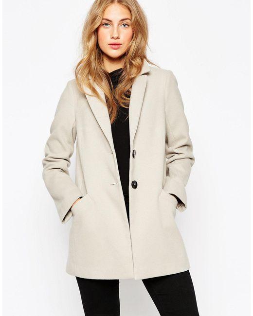 ASOS | Gray Pea Coat In Oversized Fit | Lyst
