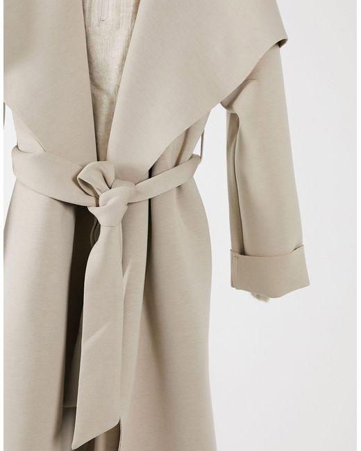 Asos Design Petite Scuba Waterfall, Asos Winter White Coats