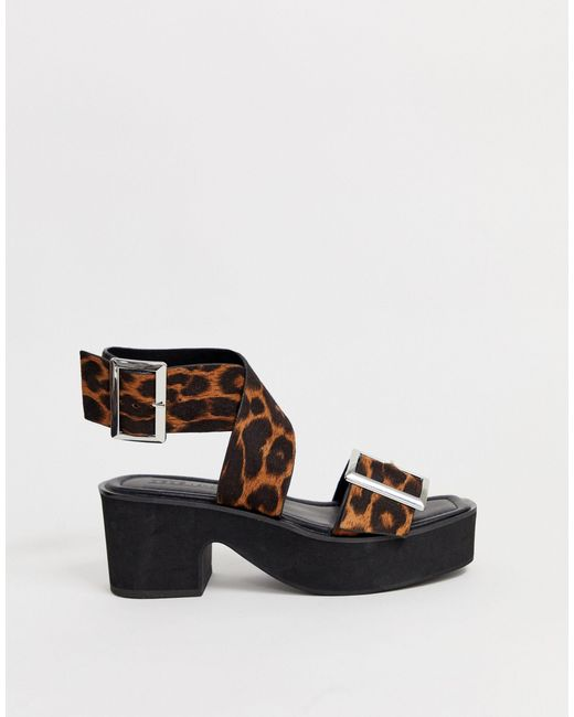 ASOS Wide Fit Halford Chunky Heeled