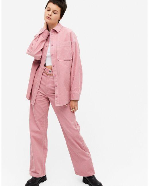 Розовая Вельветовая Рубашка Conny-li-розовый Monki, цвет: Pink