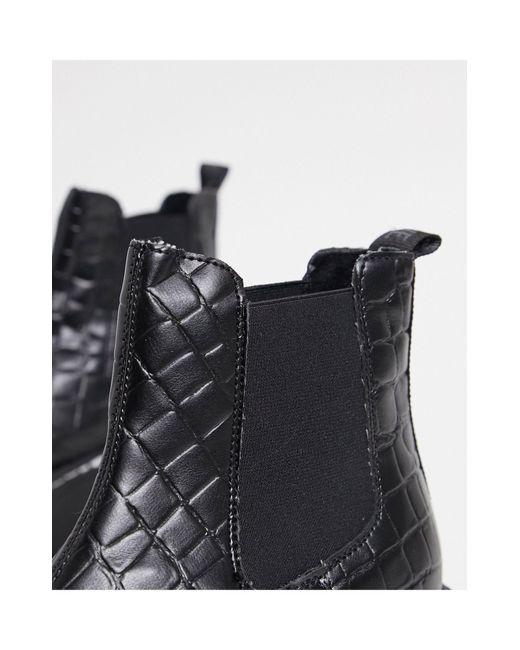 Массивные Ботинки Челси Черного Цвета С Крокодиловым Принтом Veerly-черный Steve Madden, цвет: Black