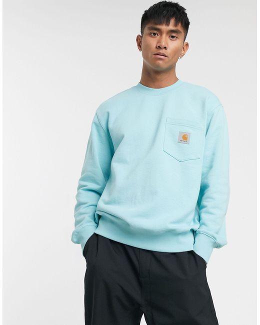 Carhartt WIP Blue Pocket Sweatshirt for men