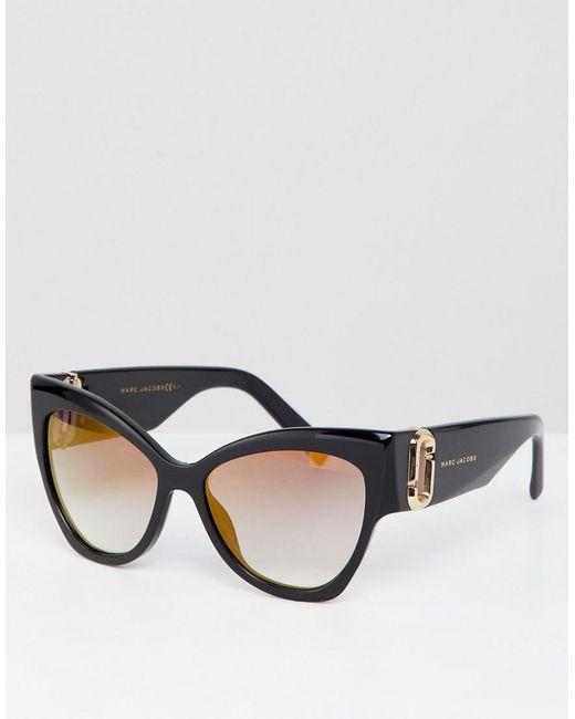 1bab00f6b8c3 Marc Jacobs - Black Oversized Cat Eye Sunglasses - Lyst ...