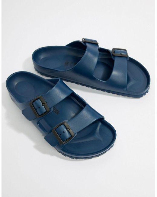Birkenstock Arizona - Eva Sandalen In Marineblauw in het Blue voor heren