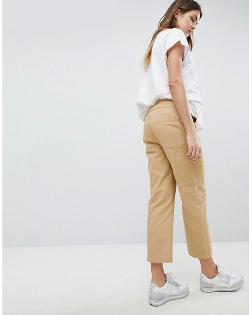 13dc8518e63f7 ... ASOS - Natural Asos Design Maternity Canvas Cargo Pants In Sand With  Under The Bump Waistband