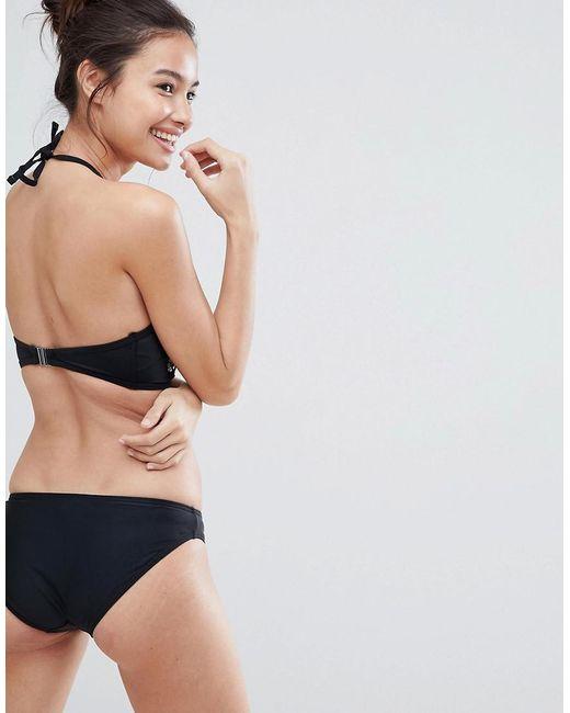 c6f8115d21 ... New Look - Black Embellished Hipster Bikini Bottoms - Lyst