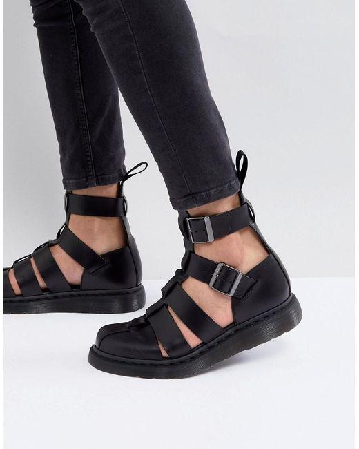 Dr. Martens Geraldo - Schwarze Sandaletten mit Fesselriemen in Black für Herren