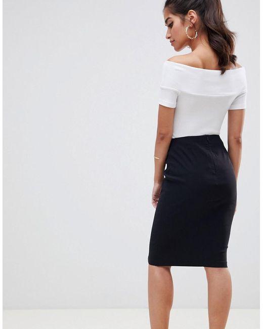 da5f157691395 ... ASOS - Black Asos Design Petite High Waisted Pencil Skirt - Lyst