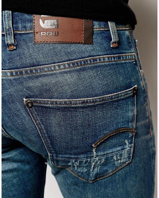 star raw jeans defend super slim skinny fit wils stretch mid wash in. Black Bedroom Furniture Sets. Home Design Ideas