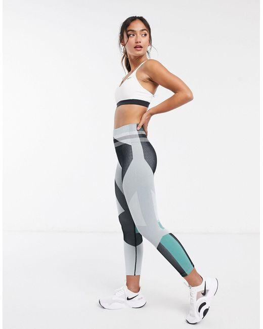 Серые Бесшовные Леггинсы -серый Nike, цвет: Gray