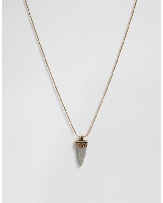 ASOS | Black Limited Edition Triangle Stone Necklace | Lyst