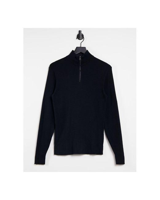 Черный Джемпер С Короткой Молнией -черный Цвет Esprit для него, цвет: Black