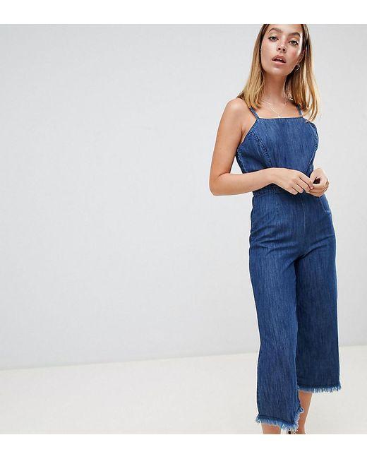 Miss Selfridge - Blue Denim Jumpsuit - Lyst
