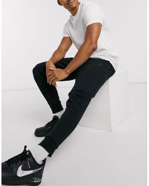 Черные Флисовые Джоггеры Tech-черный Nike для него, цвет: Black
