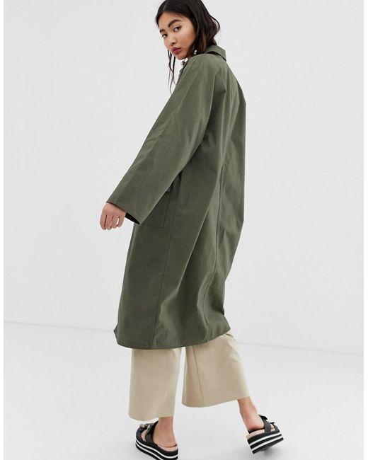55fcb52e7 Women's Green Oversized Utility Style Lightweight Coat In Khaki