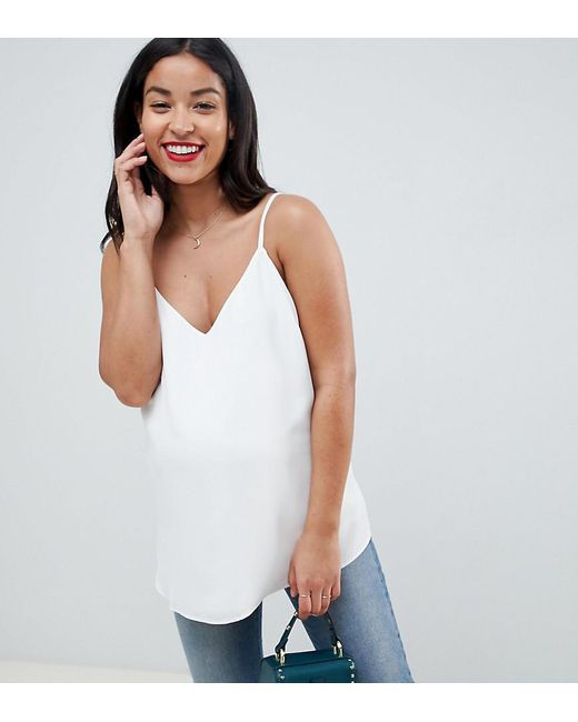372dcde0 ASOS - White Asos Design Maternity Eco Swing Cami With Double Layer - Lyst  ...