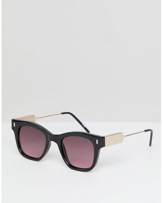 425e924be0 Spitfire - Black Gafas de sol cuadradas en negro con lentes rojas de for  Men ...