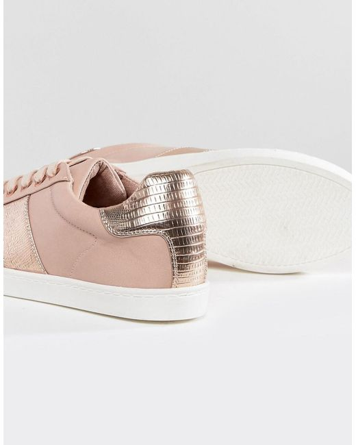 Metallic Side Stripe Trainer - Beige Kurt Geiger vDIi2rasTd