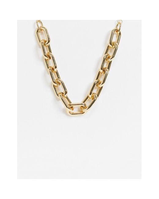 Золотистое Ожерелье-цепочка С Крупными Звеньями -золотистый Pieces, цвет: Metallic