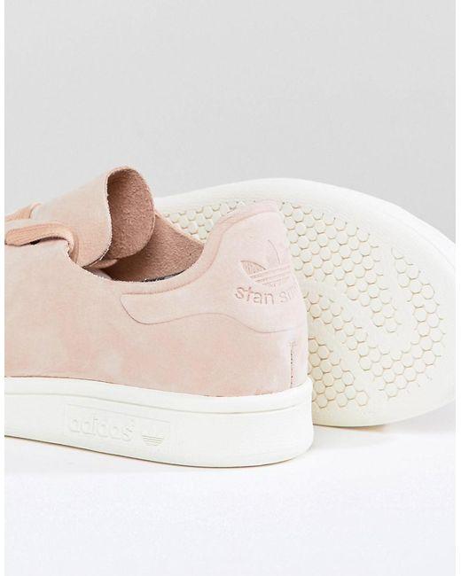 lyst adidas originali stan smith nuud nabuk formatori in rosa in rosa