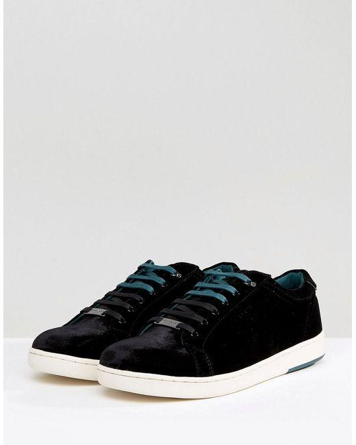 Ted Baker Lambrt Velvet Sneakers EtzDxu