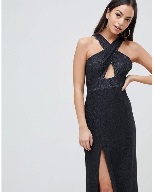 Cross Front Maxi Dress With Side Split