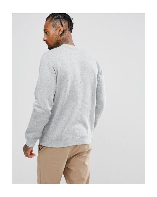 Серый Свитшот С Круглым Вырезом Club Nike для него, цвет: Gray