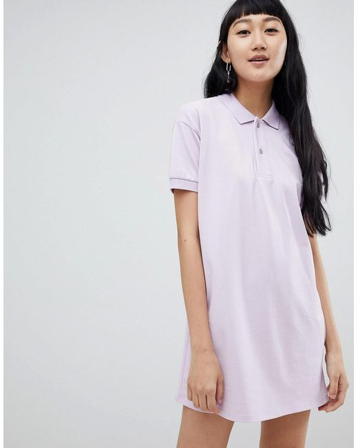 Pull&Bear - Multicolor Rugby Dress In Color Block Lilac - Lyst