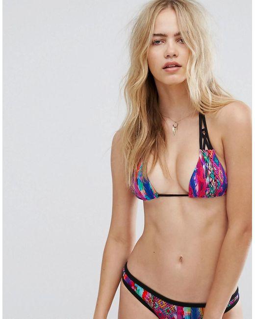 Seafolly | Multicolor Mexican Summer Slide Triangle Bikini Top | Lyst