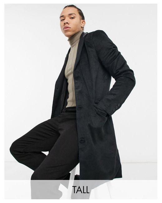 Черное Пальто Из Ткани С Добавлением Шерсти Tall-черный Цвет Another Influence для него, цвет: Black