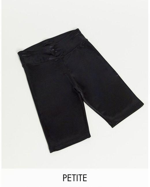 Шорты-леггинсы В Стиле Диско Petite-черный Цвет ASOS 4505, цвет: Black