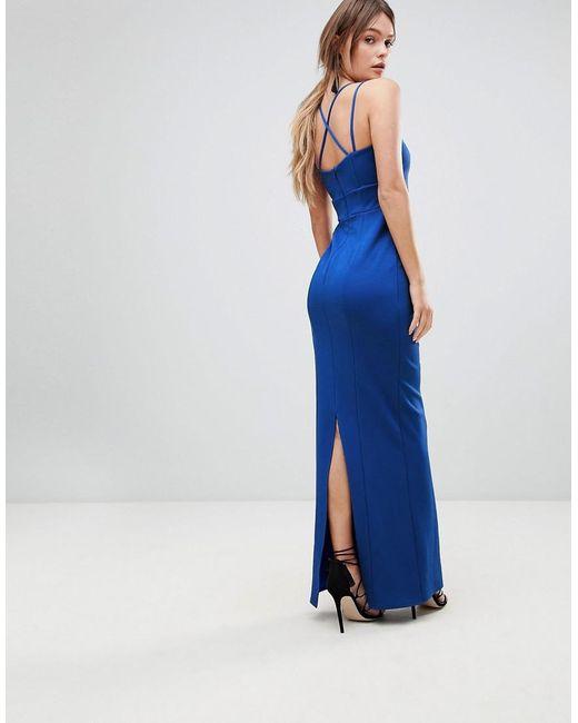 Zoe Strappy Maxi Prom Dress - Blue Coast 6IEyQAORy