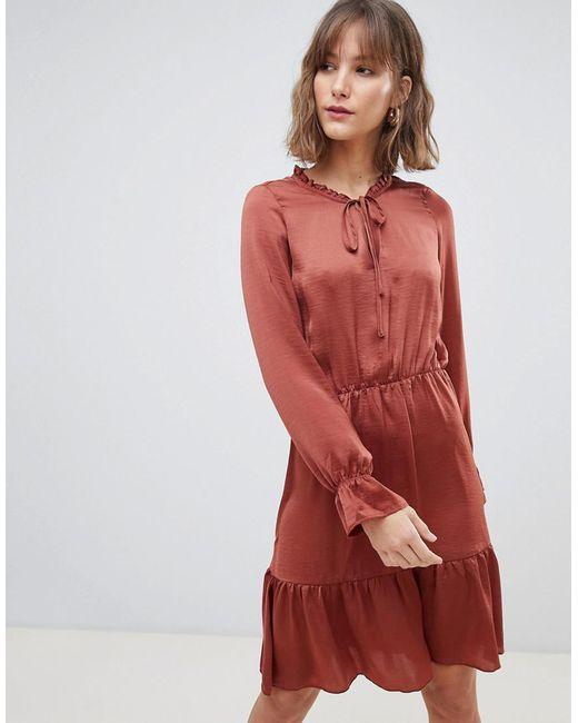 76cd571e2 Vero Moda - Red Smock Midi Dress - Lyst ...