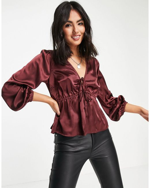Abercrombie & Fitch Pink Satin Blouse