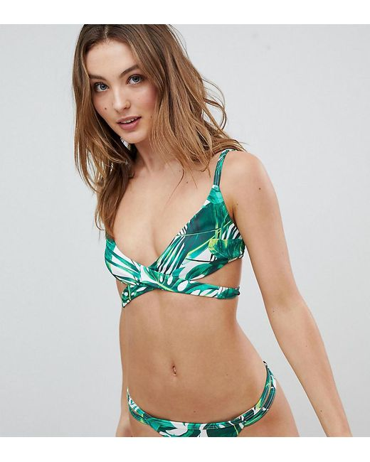 ONeill Stud Bikini Top Ladies Block Colour Tie Fastening