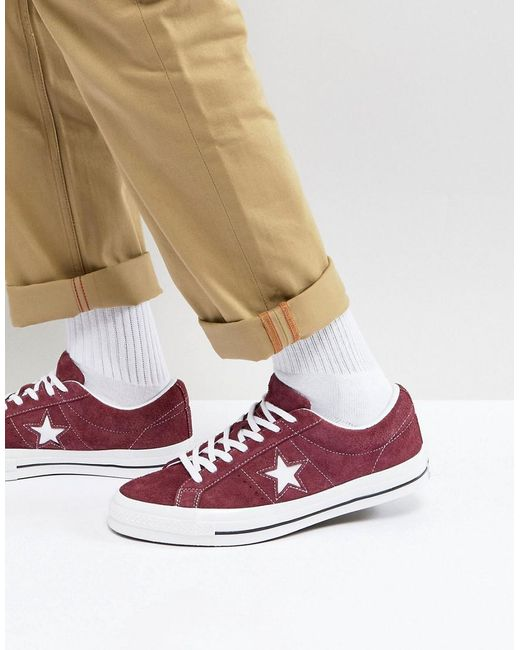 6fe06bbc471351 ... store converse one star ox plimsolls in brown 158370c for men lyst  c58ca d99a2