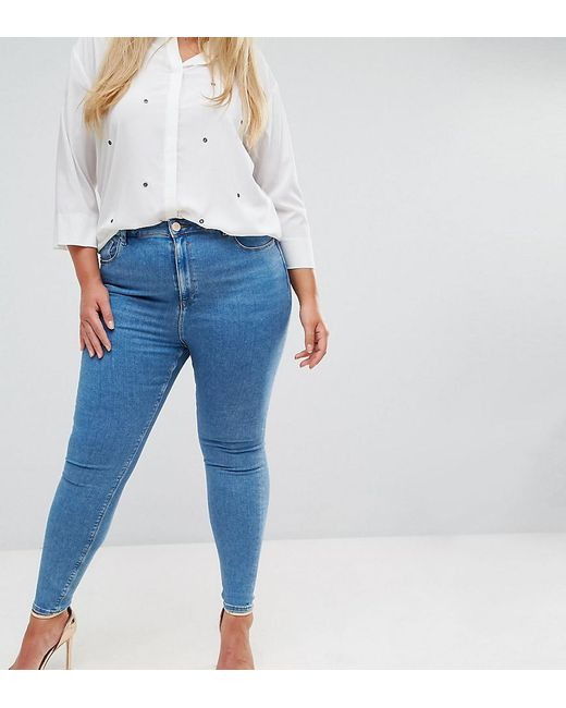 ASOS DESIGN Tall Ridley high waist skinny jeans in light wash - Lily mid wash Asos Tall jQbYzJ