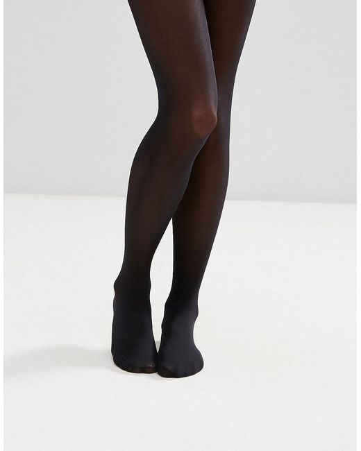 a9b2a692bfd ASOS 40 Denier Black Tights In Recycled Nylon in Black - Lyst