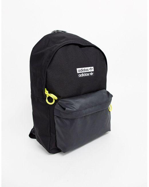 Рюкзак С Неоновой Отделкой -черный Adidas Originals для него, цвет: Black