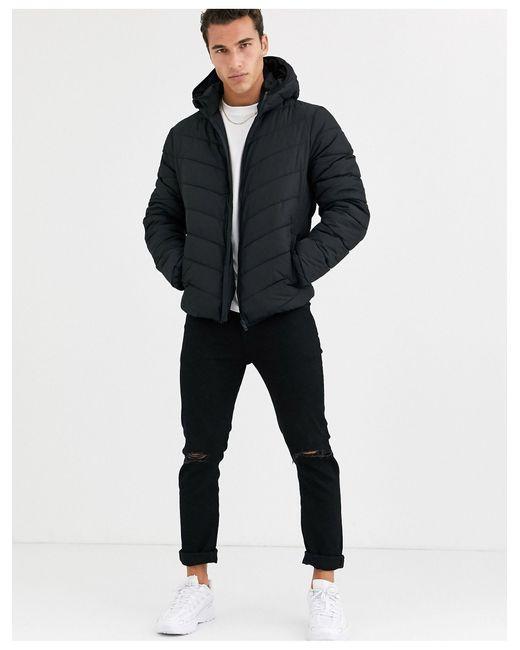 Piumino nero di New Look in Black da Uomo